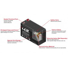 LCB SP7.2-12 12V 7.2ah SLA Battery